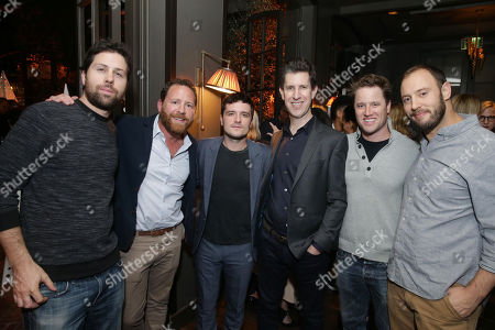 Stock Photo of Ariel Shaffir, Executive Producer, Ben Karlin, Executive producer, Josh Hutcherson, Craig Erwich, SVP, Head of Content at Hulu, Kyle Hunter, Executive Producer, and Evan Goldberg, Executive Producer,