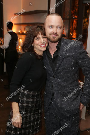 Stock Photo of Jessica Goldberg, Executive Producer, and Aaron Paul
