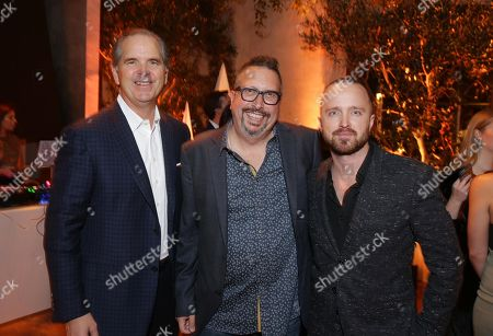 Randy Freer, CEO of Hulu, John Shiban, Writer/Director, and Aaron Paul