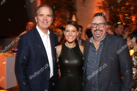 Randy Freer, CEO of Hulu, KaDee Strickland and John Shiban, Writer/Director,