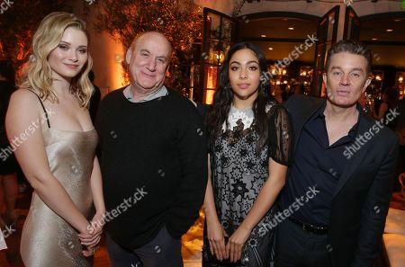 Virginia Gardner, Jeph Loeb, Executive Producer, Allegra Acosta and James Marsters