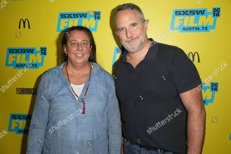 """Stock Photo of Directors Maro Chermayeff, left, and Jeff Dupre arrive at the screening of """"Soundbreaking"""" during South By Southwest at the Stateside Theatre, in Austin, Texas"""