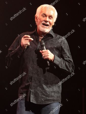 Country music legend Kenny Rogers performing at the American Music Theatre in Lancaster, Pa. Rogers, along with Bobby Bare and Jack Clement are the newest members of the Country Music Hall of Fame. The trio of new inductees attended a news conference, at the Country Music Hall of Fame and Museum in Nashville