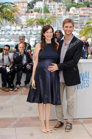 Stock Picture of Maria Marull and Damian Szifron during a photo call for Wild Tales (Relatos Salvajes) at the 67th international film festival, Cannes, southern France