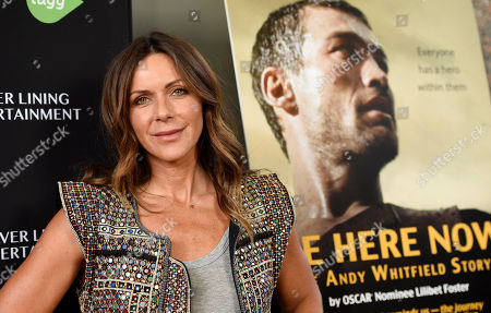 "Stock Photo of Vashti Whitfield, widow of actor Andy Whitfield, poses at the premiere of the film ""Be Here Now (The Andy Whitfield Story),"" in Beverly Hills, Calif. Andy Whitfield died of non-Hodgkin lymphoma in 2011"