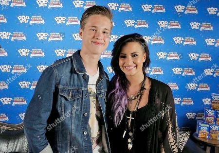 Ryan Beatty, left, and Demi Lovato had a #CrazyGoodSummer at South Side Ballroom, in Dallas, Texas