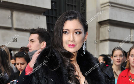 IMAGE DISTRIBUTED FOR RWE - Producer Rebecca Wang seen arriving for John Galliano's Ready to Wear Fall-Winter 2013-2014 fashion collection at Paris Fashion week on