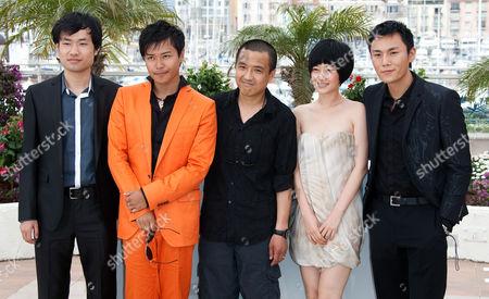 L-R: Wu Wei, Chen Si Cheng, Ye Lou (Director), Tan Zhuo, Qin Hao