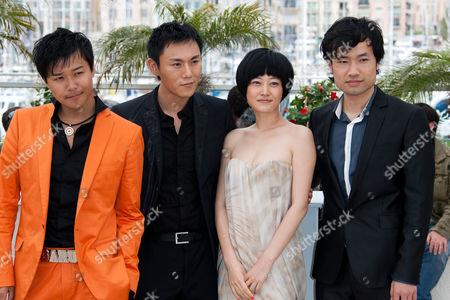 L-R: Chen Si Cheng, director Ye Lou, Tan Zhuo, Qin Hao