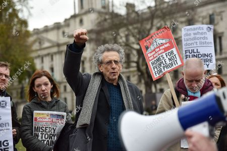 Piers Corbyn. Budget day protests in Westminster.
