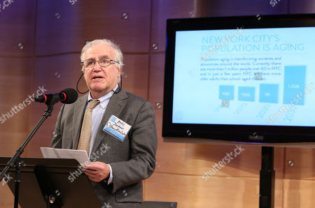 Paul L. Joskow speaks at the NYAM Age Smart Awards funded by the Alfred P. Sloan Foundation, on in New York