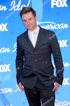 "Former contestant Blake Lewis arrives at the ""American Idol"" finale in Los Angeles. ""American Idol"" that wraps its 15-year run, brought pop stardom to just a handful of contestants, but others who competed over the years made an impression. The Seattle beatboxer, who finished second to season-six winner Jordin Sparks, has parked himself in Los Angeles to pursue music and voice-over work, building on his credits in video games (""The Last Gremlin"") and anime"