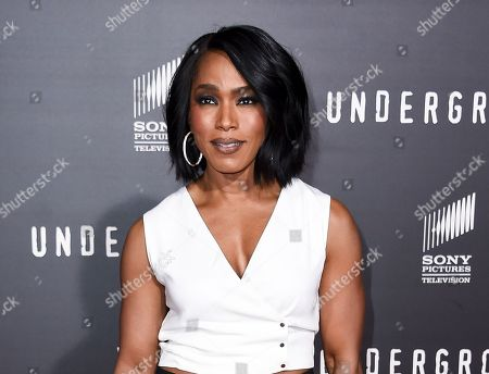 """Stock Picture of Angela Bassett arrives at the LA Premiere of """"Underground"""" in Los Angeles. Bassett, Tina Fey, Jada Pinkett Smith, Cynthia Nixon and Kathie Lee Gifford are being recognized for their media achievements by the Alliance for Women in Media Foundation at its 41st annual Gracie Awards in May"""