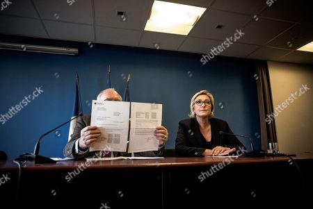 Wallerand De Saint-Just and Marine Le Pen