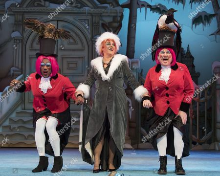 Kat B as Ugly Sister,  Susie McKenna as the Wicked Stepmother, Tony Whittle as Ugly Sister