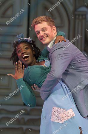 Aisha Jawando as Cinderella, Chris Jenkins as Prince Charming