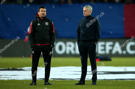 Manchester United manager Jose Mourinho and Manchester United assistant manager Rui Faria
