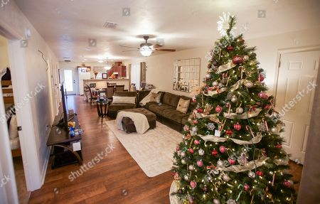 The inside of India Williams' new home seen at the Aaron's, Inc. and Warrick Dunn Charities Homes For The Holidays Presentation on in Tallahassee, Fla