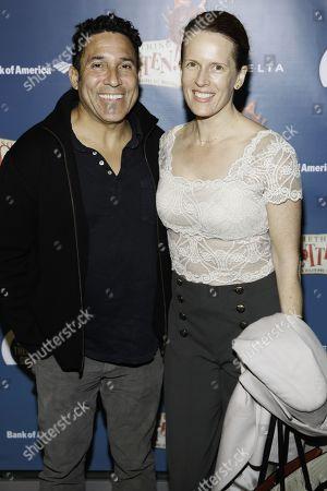 Stock Image of Oscar Nunez and Ursula Whittaker