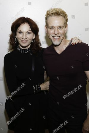 Marilu Henner and Adam Pascal backstage