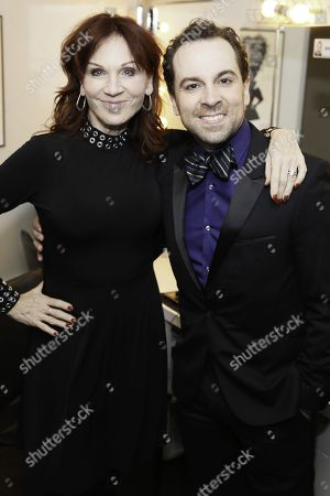 Marilu Henner and Rob McClure backstage