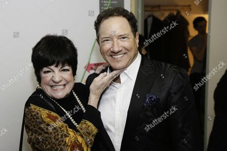Jo Anne Worley and Kevin McCollum backstage