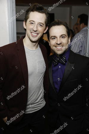 Josh Grisetti and Rob McClure backstage