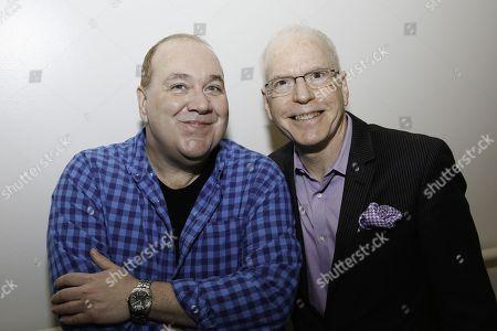 Blake Hammond and Douglas C. Baker backstage