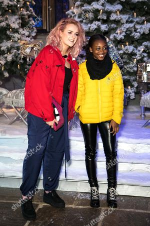 Stock Picture of X Factor finalists Grace Davies and Rai-Elle Williams