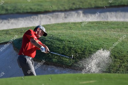 Greg Chalmers of Australia takes a fairway shot on the 10th during round 1 of the Australian Open Golf Championship at The Australian Golf Club in Sydney, Australia, 23 November 2017. The golf tournament will run from 23 to 26 November.