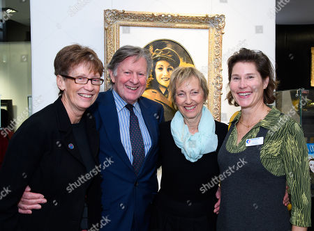 Helen Bournat (Business Development Manager at Dame Vera Lynn Children's Charity), Tom Jones, Virginia Lewis-Jones and Pilar Cloud (Executive Manager at Dame Vera Lynn Children's Charity)
