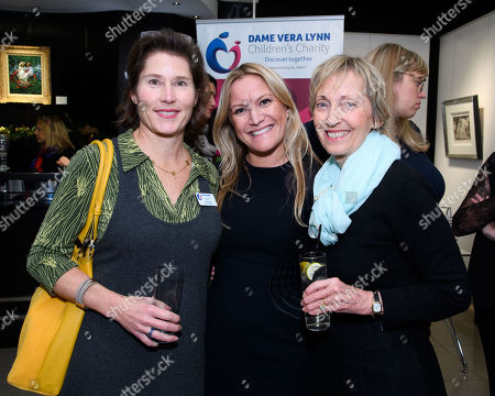 Pilar Cloud (Executive Manager at Dame Vera Lynn Children's Charity), Rachel Simkiss (Gallery Director at Clarendon Fine Art) and Virginia Lewis-Jones