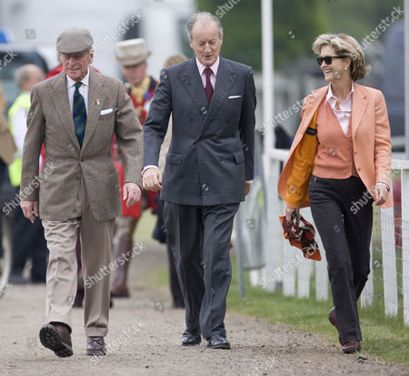 Prince Philip with Lord and Lady Brabourne (formerly Lord and Lady Penny Romsey).