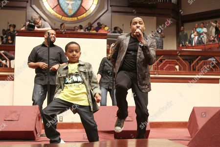"""Gospel artist W.R."""" Smokie"""" Norful right, performs with son Ashton Norful center at the 2013 McDonaldâ?™s Inspiration Celebration Gospel Tour, on Thursday, May, 9, 2013 in Fort Washington, MD"""