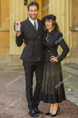 Mr. Idris Khan (here with his wife Annie Morris) is made an Officer (THE MOST EXCELLENT ORDER OF THE BRITISH EMPIRE - OBE) for services to Art.