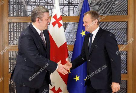 Donald Tusk and Giorgi Kvirikashvili
