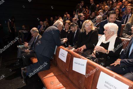 Gilles Bernheim Jean-Pierre Raffarin, Line Renaud and Maryvonne Pinault