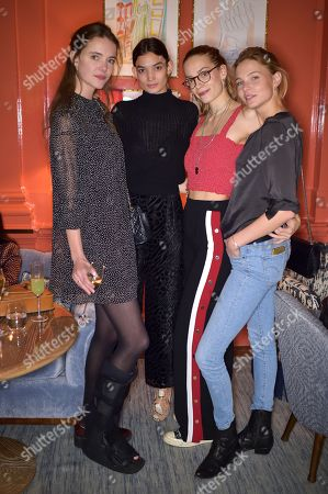 Stock Image of Imogen Morris Clarke, Emory Ault, Tijana Tamburic and Franziska Klein