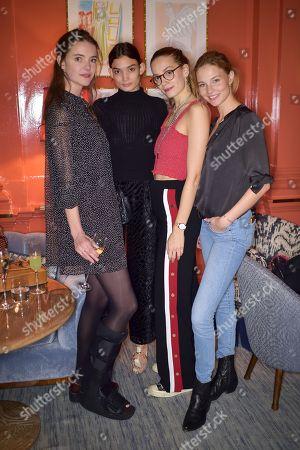 Stock Photo of Imogen Morris Clarke, Emory Ault, Tijana Tamburic and Franziska Klein