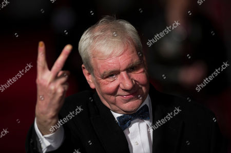 """Terri Hooley arrives at BFI London Film Festival at the premiere of """"Good Vibrations"""" on in London"""