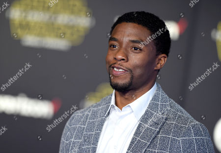 """Chadwick Boseman arrives at the world premiere of """"Star Wars: The Force Awakens"""" at the TCL Chinese Theatre in Los Angeles. Having already played Jackie Robinson and James Brown, Boseman will tackle another icon in a courtroom thriller about Thurgood Marshall. Producers announced Wednesday, Dec. 16, 2015, that Boseman will star as the legendary attorney in â?oeMarshall,â?? a film to be directed by â?oeDjango Unchainedâ?? producer Reginald Hudlin"""