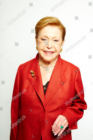 """Stock Photo of Mary Higgins Clark poses for a portrait in promotion of her upcoming holiday mystery, """"Santa Cruise,"""" on in New York"""