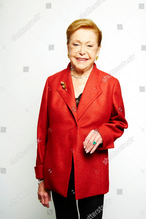 """Stock Image of Mary Higgins Clark poses for a portrait in promotion of her upcoming holiday mystery, """"Santa Cruise,"""" on in New York"""
