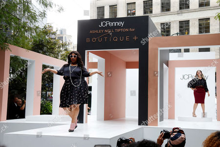 Editorial photo of Ashley Nell Tipton for JCPenney Boutique+ Fashion Show, New York, USA - 6 Sep 2016