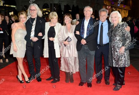 From left, Sheridan Smith, Billy Connolly, Dame Maggie Smith, Pauline Collins, Tom Courtenay, Dustin Hoffman and Dame Gwyneth Jones pose at the London Film Festival American Airlines Gala -Quartet at Odeon West End, in London. The 75-year-old Hoffman went behind the camera for â?oeQuartet,â?? starring Smith, Courtenay, Connolly and Collins as aging British opera divas at a retirement home for musicians who put aside past differences for a reunion concert