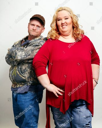 June Shannon, right, aka Mama June, and Mike Thompson, aka Sugar Bear, pose for a portrait in New York. Shannon and Thompson are on the new season of â?oeMarriage Bootcamp Reality Starsâ?? on We