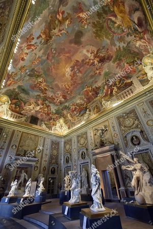 Stock Photo of A view of artworks mainly by Gian Lorenzo Bernini at Galleria Borghese in Rome