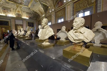 A view of artworks mainly by Gian Lorenzo Bernini at Galleria Borghese in Rome