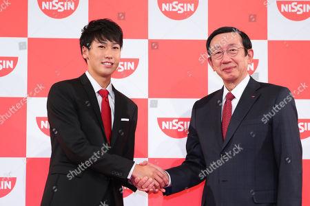 Stock Photo of (L to R) Yosuke Watanuki, CEO/Koki Ando