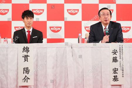 (L to R) Yosuke Watanuki, CEO/Koki Ando